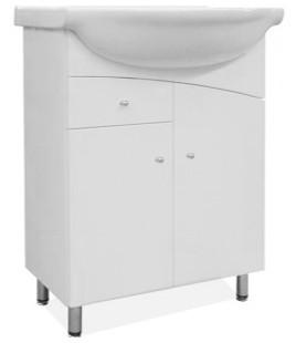 Union - Skříňka s umyvadlem 75 cm (bílá vysoký lesk)