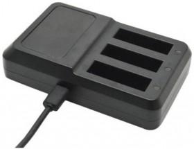 Univerzální nabíječka pro akční kamery N208, až 3 baterie