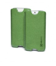Univerzální pouzdro Celly, vsuvka, 124×59×7,6mm, zelená, POUŽITÉ