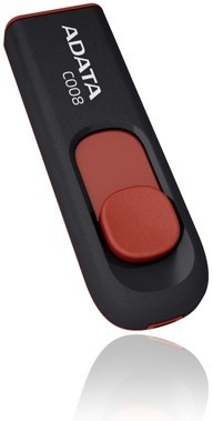 USB 2.0 flash disky A-Data C008 16GB, černo - červená