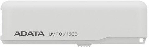 USB 2.0 flash disky ADATA UV110 16GB, bílý