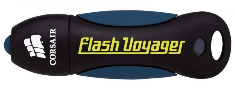 USB 2.0 flash disky Corsair Voyager 16GB černý-modrý