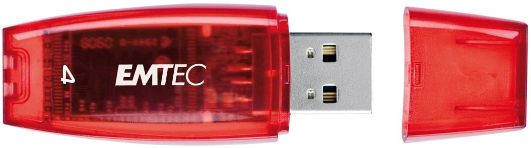 USB 2.0 flash disky Emtec C400 4GB červený