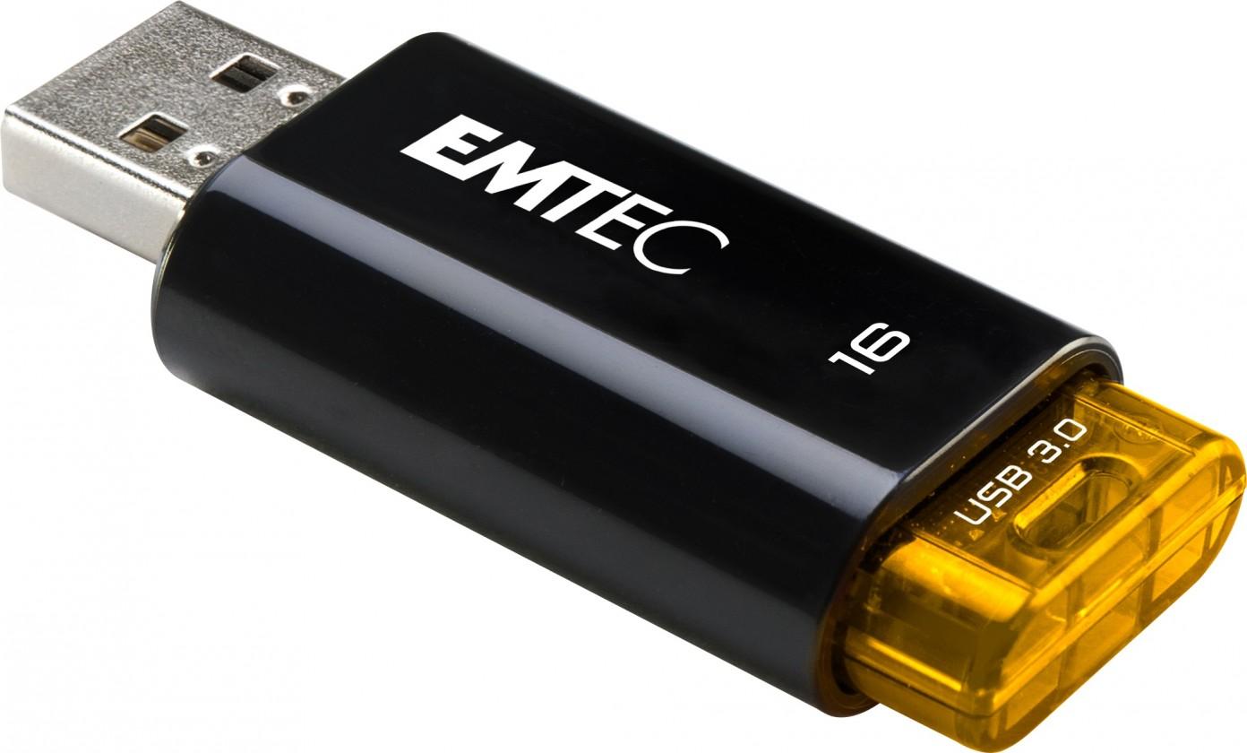 USB 2.0 flash disky Emtec C650 16GB černý-oranžový