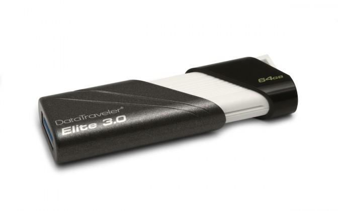USB 2.0 flash disky Kingston DataTraveler Elite 64GB černý