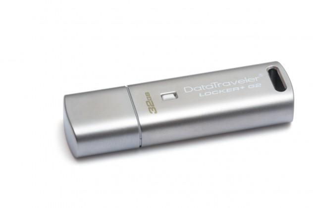 USB 2.0 flash disky Kingston DataTraveler Locker+ 32GB stříbrný