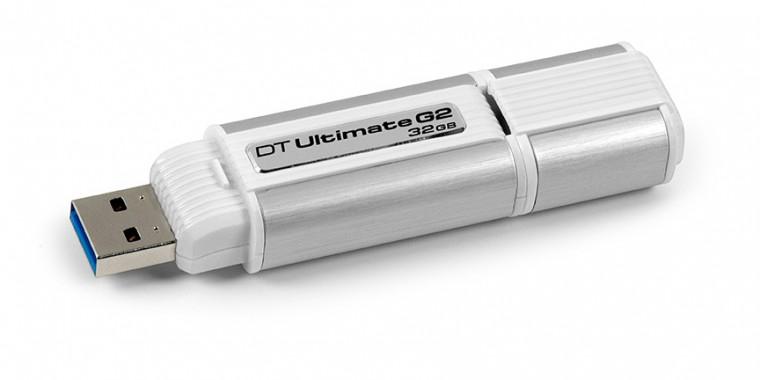 USB 2.0 flash disky Kingston DataTraveler Ultimate G2 32GB stříbrný