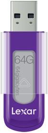 USB 2.0 flash disky Lexar JumpDrive S50 64GB fialový