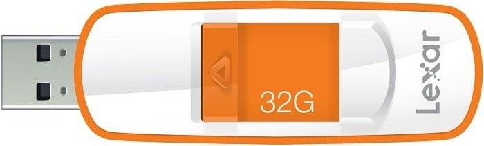 USB 2.0 flash disky Lexar JumpDrive S73 32GB bílý-oranžový