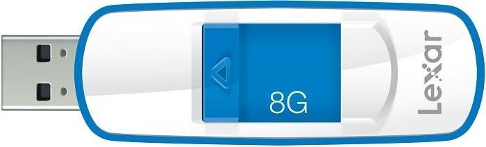 USB 2.0 flash disky Lexar JumpDrive S73 8GB modrý