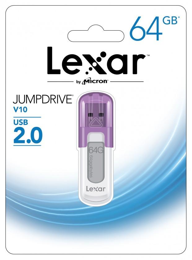 USB 2.0 flash disky Lexar JumpDrive V10 64GB