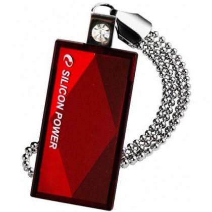 USB 2.0 flash disky Silicon Power Touch 810 4GB červený