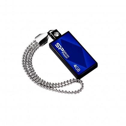 USB 2.0 flash disky Silicon Power Touch 810 4GB modrý
