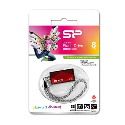 USB 2.0 flash disky Silicon Power Touch 810 8GB červený
