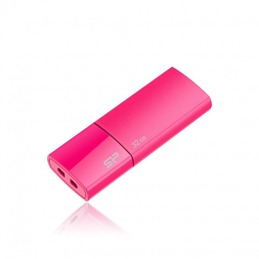USB 2.0 flash disky Silicon Power Ultima U05 32GB růžový