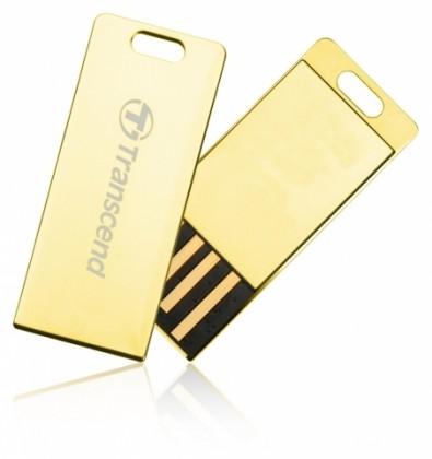 USB 2.0 flash disky Transcend JetFlash 3G 32GB zlatý