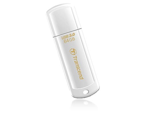 USB 2.0 flash disky Transcend JetFlash 730 64GB bílý