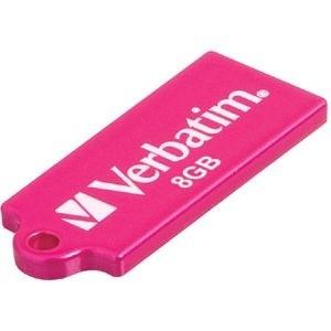 USB 2.0 flash disky Verbatim Store 'n' Go Micro 8GB růžový