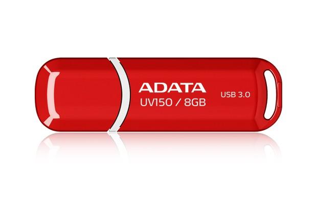USB 3.0 flash disky A-Data UV150 8GB, USB 3.0, červený