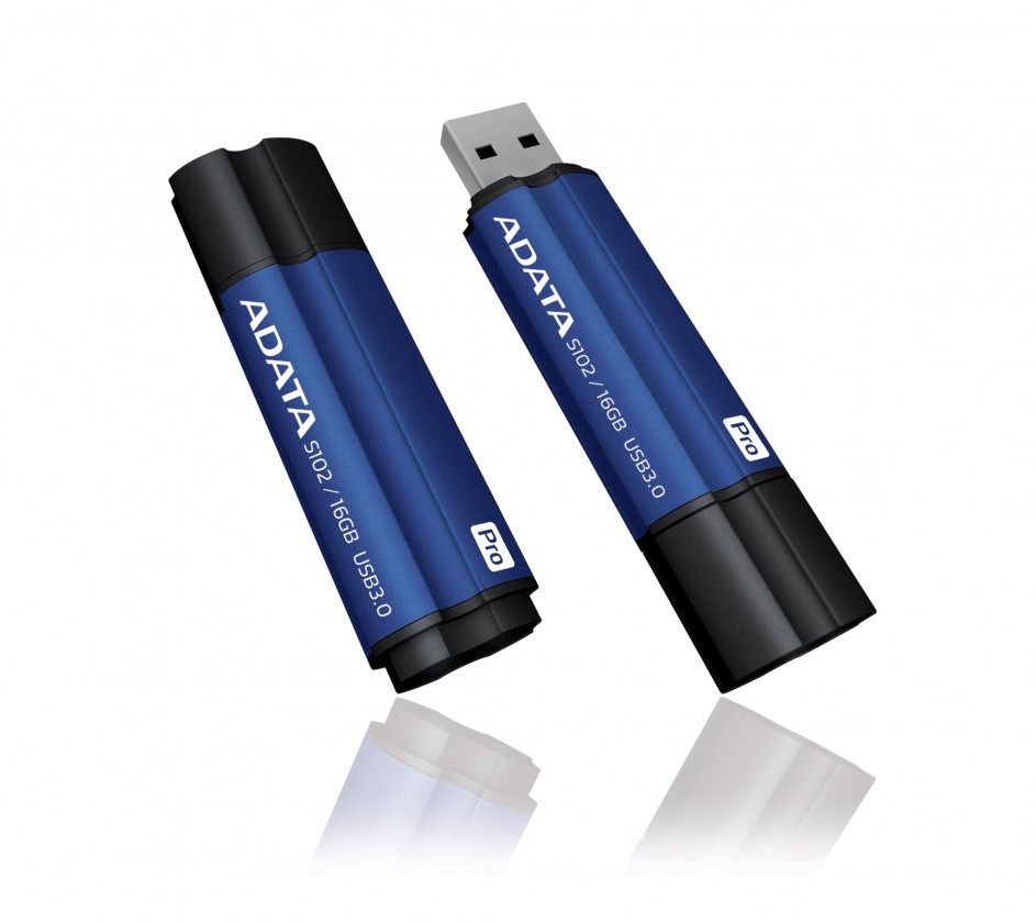 USB 3.0 flash disky ADATA Superior series S102 Pro 16GB, modrá AS102P-16G-RBL