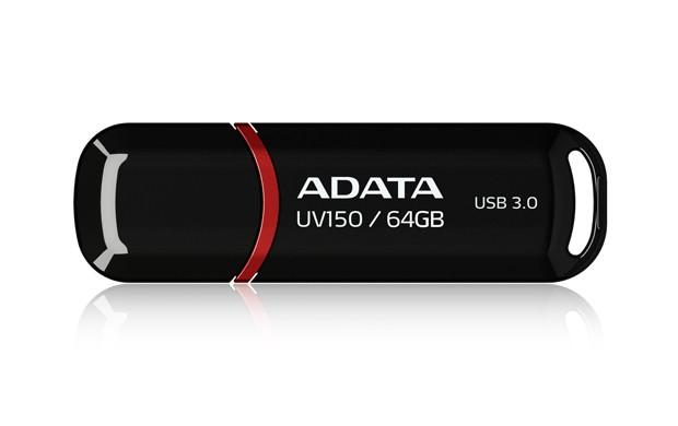 USB 3.0 flash disky ADATA USB UV150 64GB black (USB 3.0)