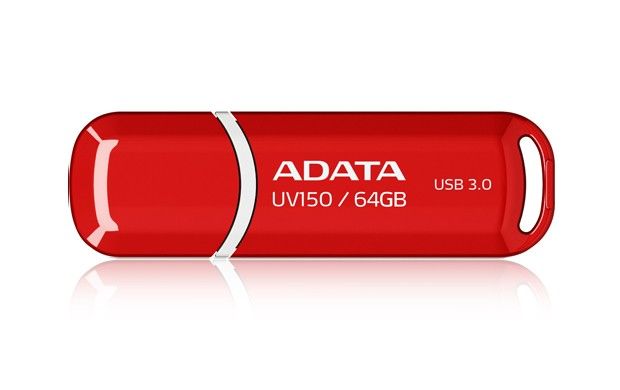 USB 3.0 flash disky ADATA USB UV150 64GB red (USB 3.0)