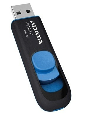 USB 3.0 flash disky ADATA UV128 32GB černý/modrý (AUV128-32G-RBE)