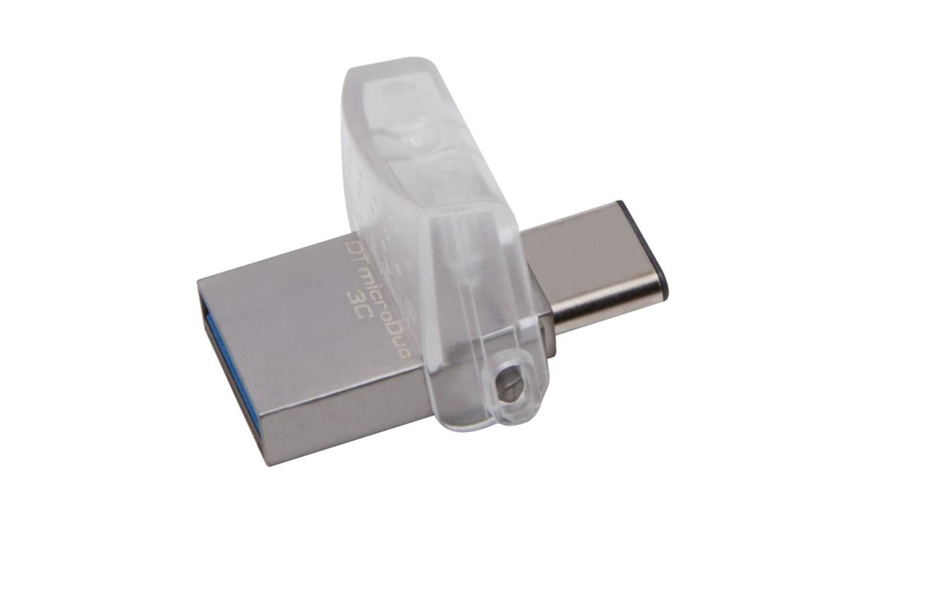 USB 3.0 flash disky Kingston DataTraveler MicroDuo 3C 64GB USB 3.0 (DTDUO3C/64GB)