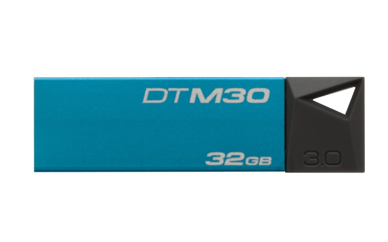 USB 3.0 flash disky Kingston DataTraveler Mini 32GB, modrá - DTM30/32GB