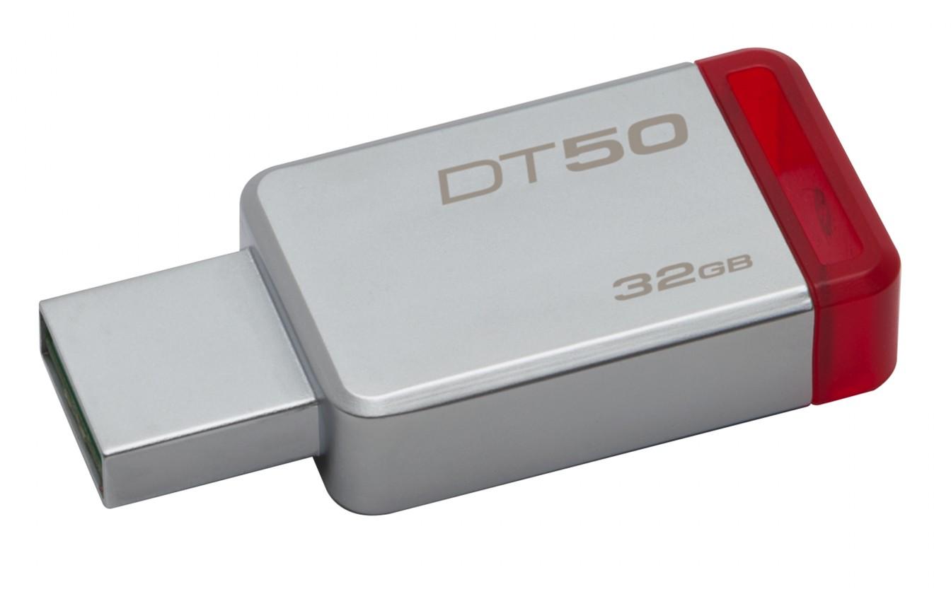 USB 3.0 flash disky Kingston USB flash disk DataTraveler 50 32GB (DT50/32GB) červený