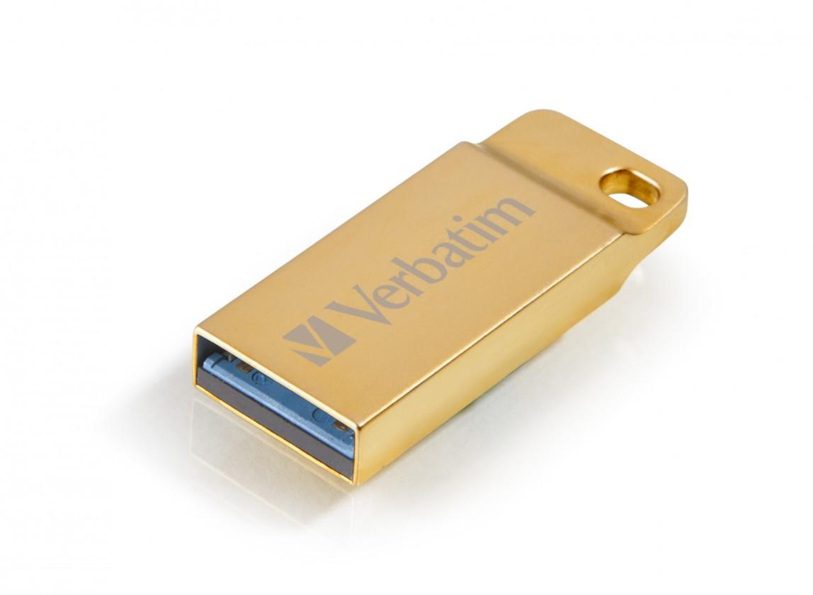 USB 3.0 flash disky VERBATIM Store 'n' Go Metal Executive 32GB USB 3.0 zlatá