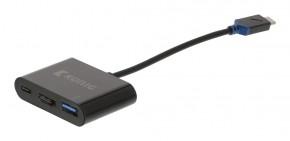 USB 3.1C adaptér zástrčka# C/HDMI#/A zásuvka, 0,15m
