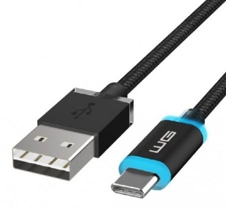 USB-C kabely Kabel WG USB Typ C na USB, 1m, LED indikace nabíjení