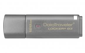 USB flash disk 128GB Kingston DT Locker+ G3, 3.0 (DTLPG3/128GB)