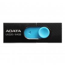 USB flash disk 64GB Adata UV220, 2.0 (AUV220-64G-RBKBL)