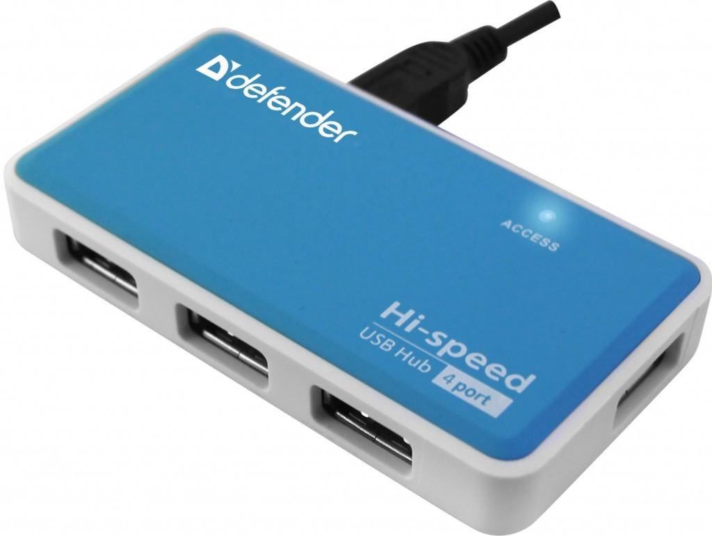 USB hub Defender Quadro Power ROZBALENO