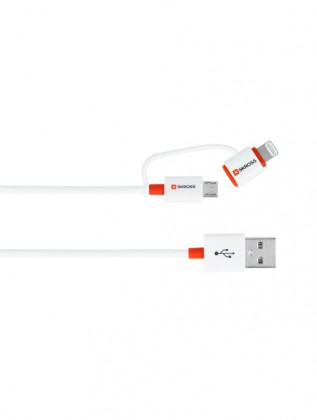 USB kabel SKROSS 2in1 Charge'n Sync, micro USB a Apple Lightning
