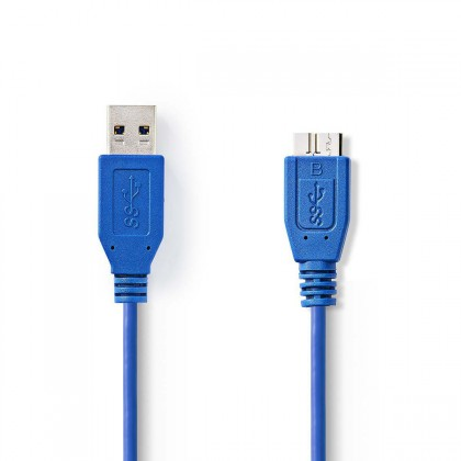 USB kabely Kabel zástrčka USB 3.0 A-zástrčka USB micro B,1,00 m-VLCP61500L10