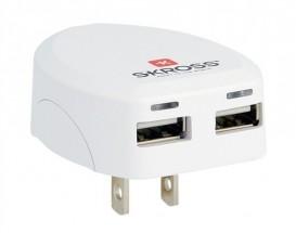 USB nabíjecí adaptér SKROSS USA, 2100mA, 2x USB výstup