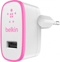 USB nabíječka Belkin F8J052vfPNK, 2100 mA USB biílá/fialová