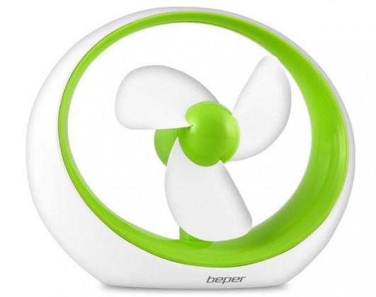 USB příslušenství Stolní ventilátor do USB Beper 70245 Miró zelený ROZBALENO