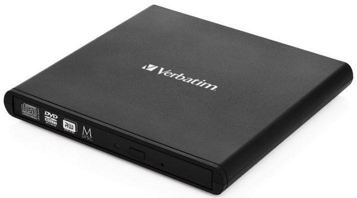 USB příslušenství VERBATIM Externí CD/DVD Slimline mechanika USB 2.0 černá +Nero
