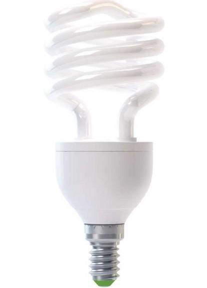Úsporná žárovka HALF SPIRAL T2 E27 15W teplá bílá