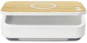 UV sterilizátor IMMAX UV-C pro respirátory s QI nabíjením, bílá