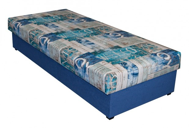Válenda Dana 90x200, modrá, včetně úp