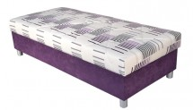 Válenda George 90x200, fialová, vč. matrace a úp