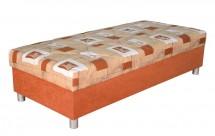 Válenda George 90x200, oranžová, vč. matrace a úp - II. jakost