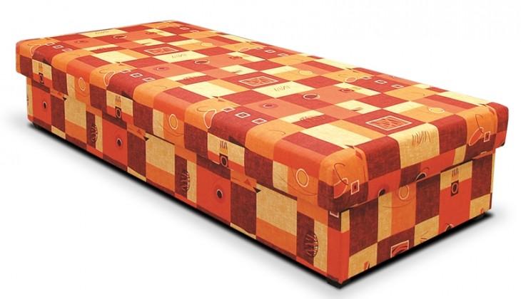 Válenda Válenda Dana 90x200, oranžová, vč. matrace a úp