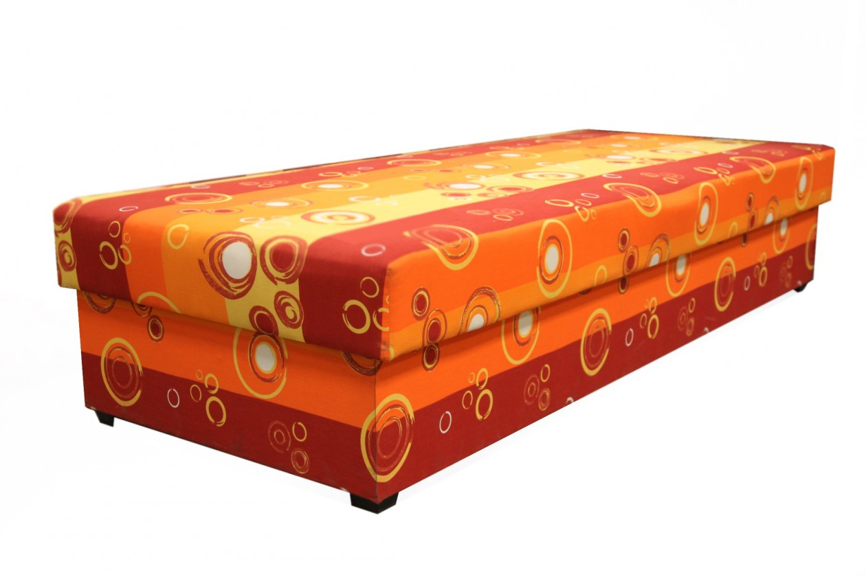 Válenda Válenda Iveta 80x200, oranžová, vč. matrace a úp