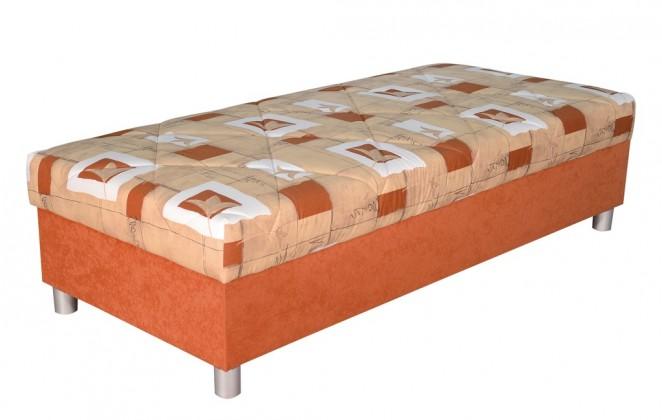 Válendy Válenda George 90x200, oranžová, vč. matrace a úp